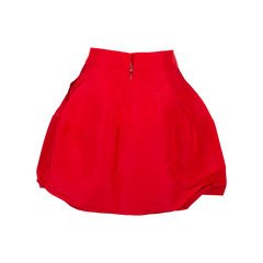 Oscar de la renta flounce mini skirt red 2?1544414739