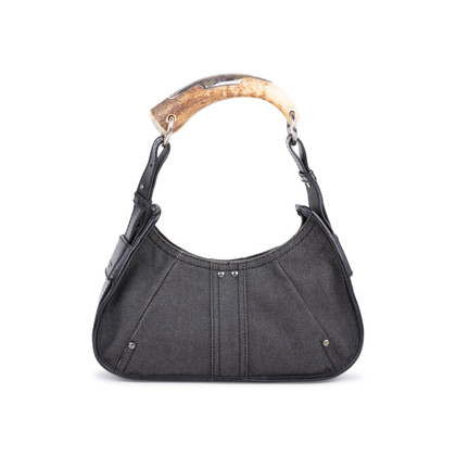 Authentic Pre Owned Yves Saint Laurent Denim Mombasa Horn Bag (PSS-591-00006)