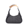 Authentic Pre Owned Yves Saint Laurent Denim Mombasa Horn Bag (PSS-591-00006) - Thumbnail 0