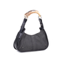 Authentic Pre Owned Yves Saint Laurent Denim Mombasa Horn Bag (PSS-591-00006) - Thumbnail 1