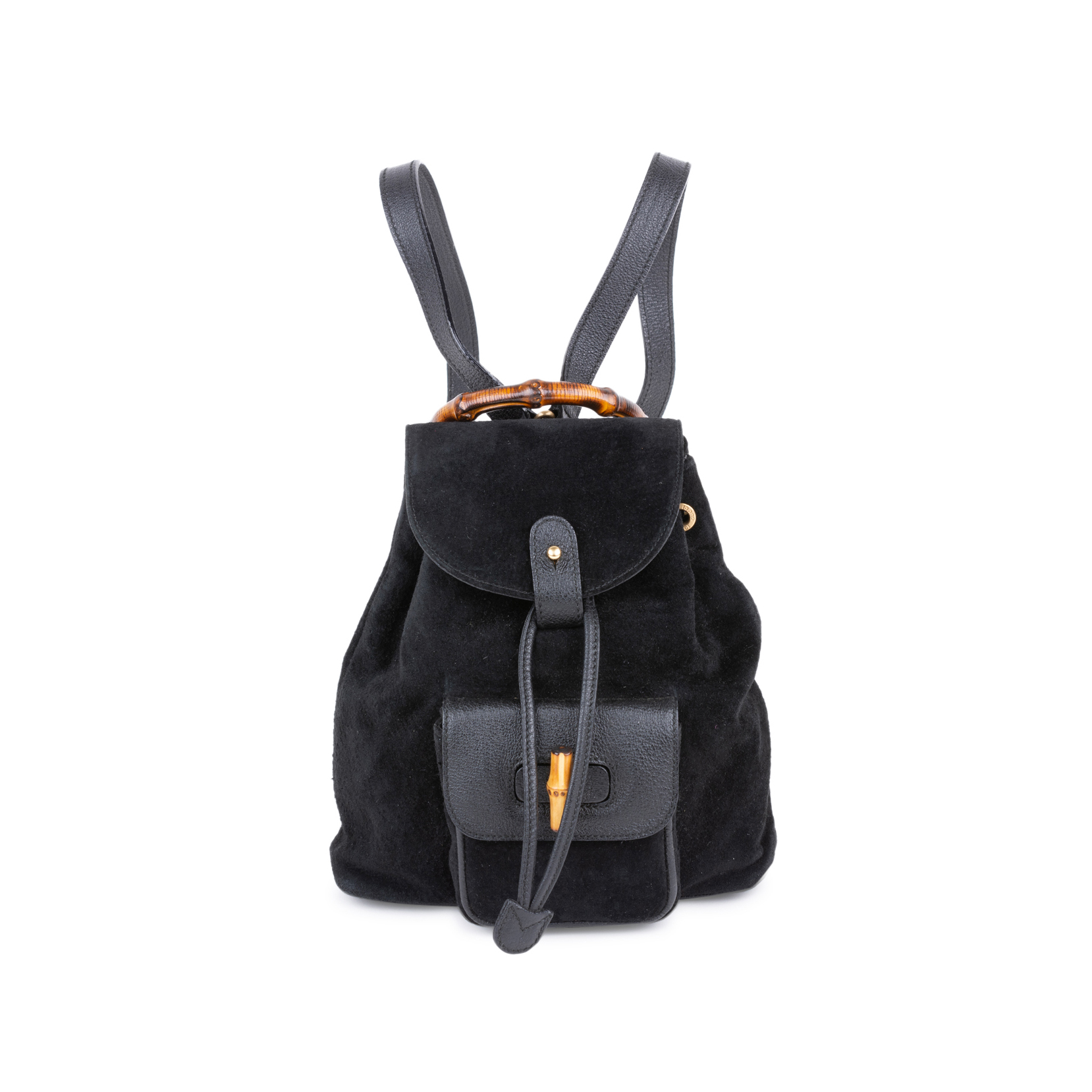 81f3a2af7ff5 Authentic Second Hand Gucci Suede Mini Bamboo Backpack (PSS-591-00008) |  THE FIFTH COLLECTION