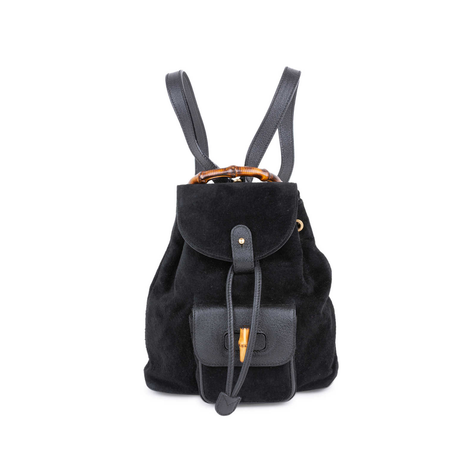 2f79aef9353d Tap to expand · Authentic Second Hand Gucci Suede Mini Bamboo Backpack  (PSS-591-00008) ...
