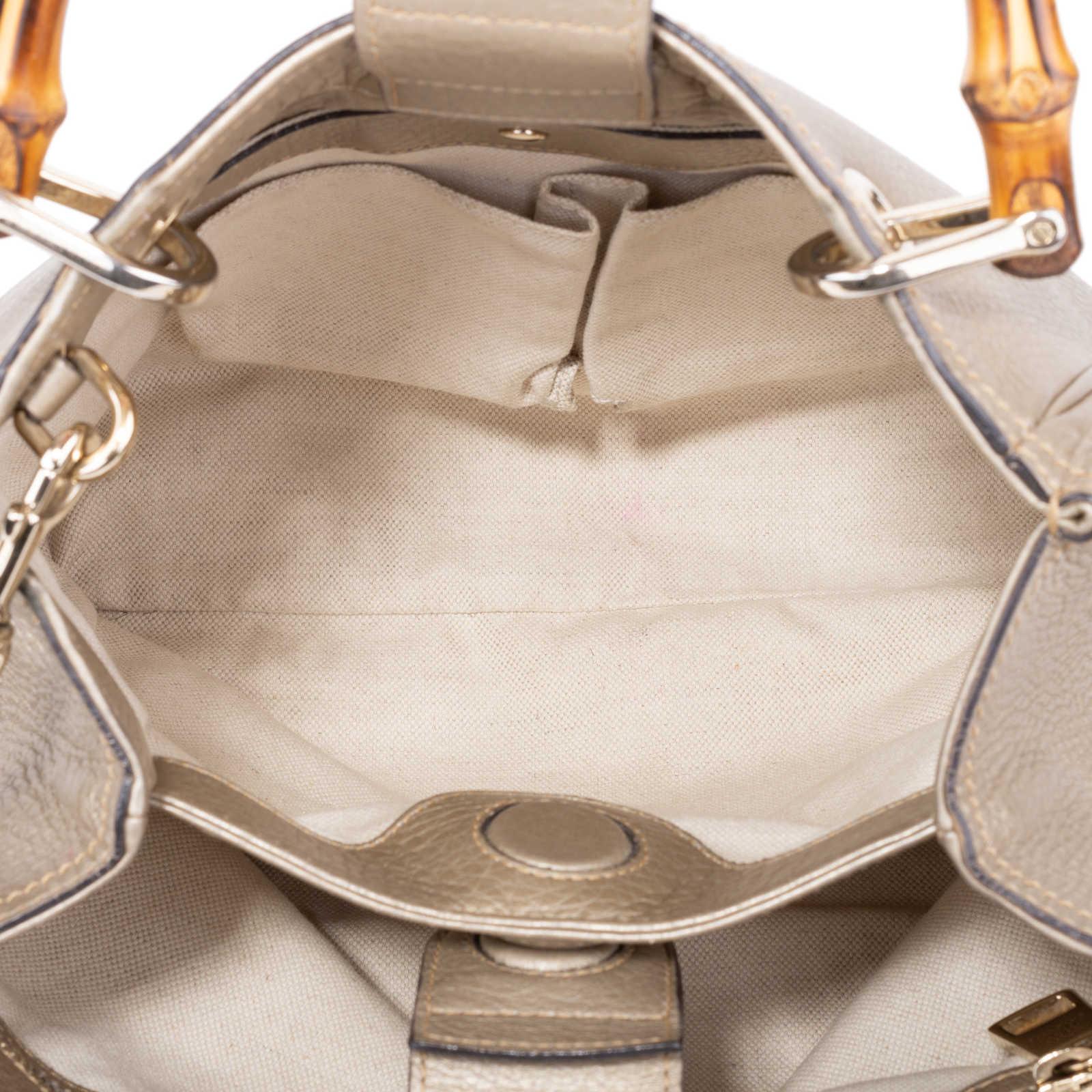 3f7e53952de6 ... Authentic Second Hand Gucci Small Bamboo Shopper Bag (PSS-591-00011) ...