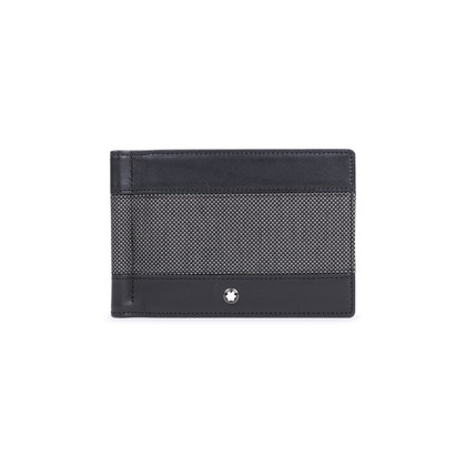 Authentic Pre Owned Montblanc Meisterstuck Canvas wallet with Money Clip (PSS-572-00001)