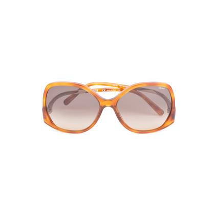 Authentic Second Hand Chloé Tortoiseshell Square Framed Sunglasses (PSS-572-00002)