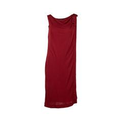 Bow Draped Jersey Dress
