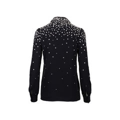 Saint laurent embellished pussybow blouse 2?1544430617
