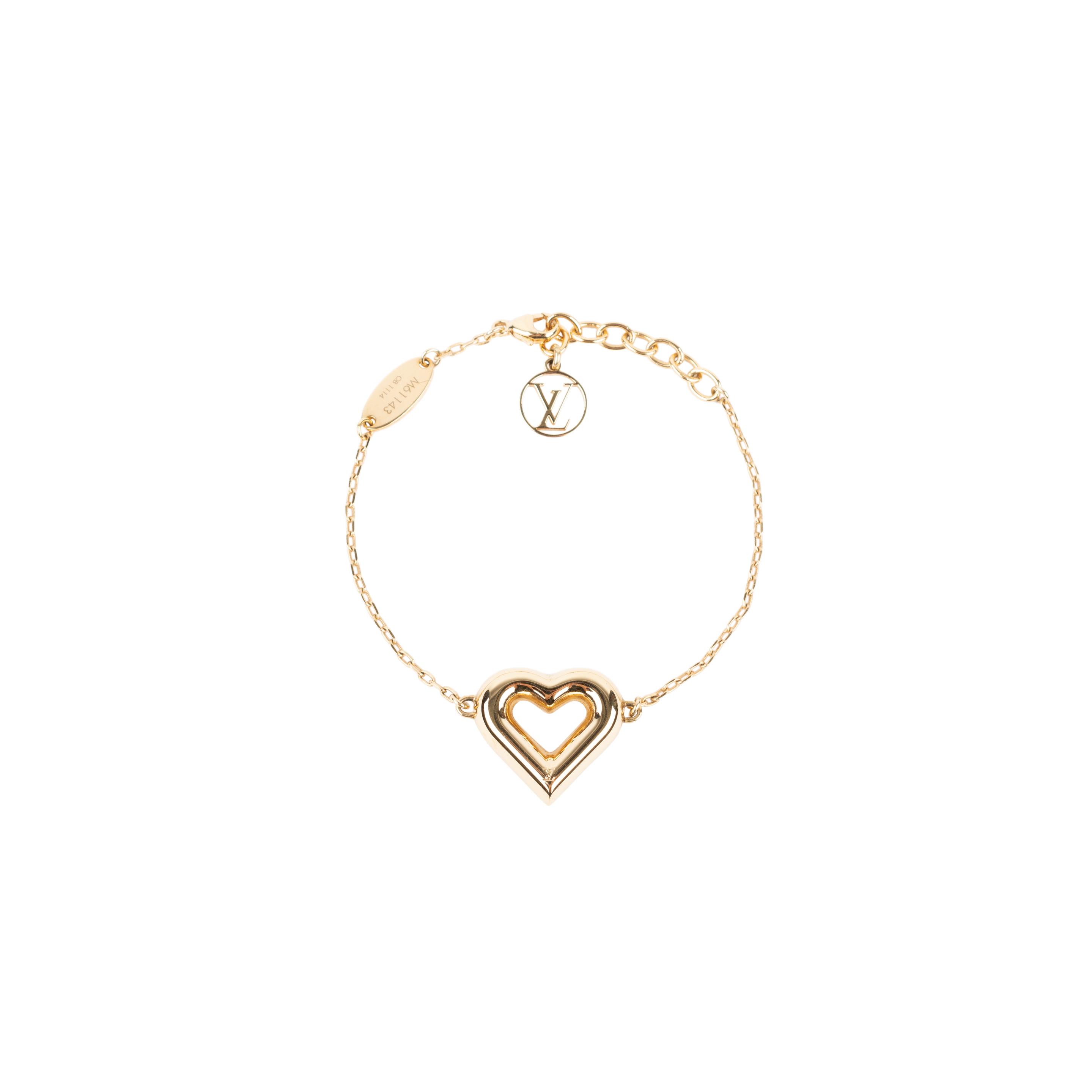 02015566f071 Authentic Second Hand Louis Vuitton LV   Me Heart bracelet (PSS-136-00045)