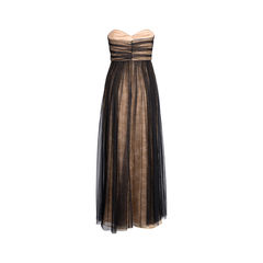 Marchesa notte strapless black gown 2?1544600316