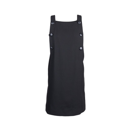 Authentic Second Hand Raoul Black Buttoned Pinafore Dress (PSS-577-00016)
