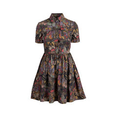 Camubutterfly Print Shirt Dress