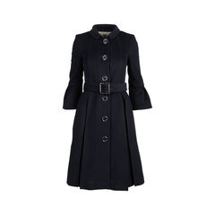 Bell Sleeve Wool Coat