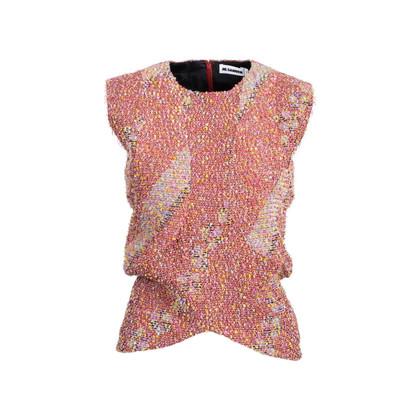 Authentic Second Hand Jil Sander Metallic Tweed Top (PSS-357-00051)