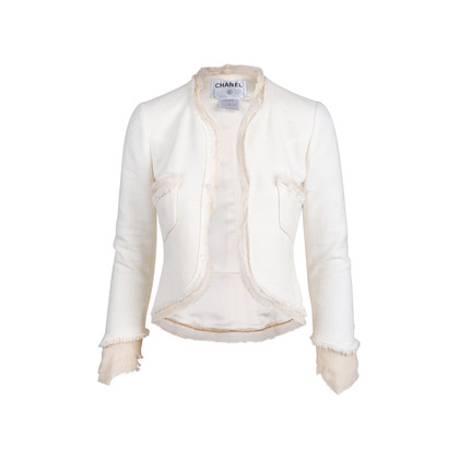Authentic Second Hand Chanel Silk Trim Tweed Jacket (PSS-357-00053)