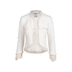 Silk Trim Tweed Jacket