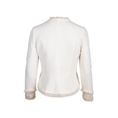 Chanel silk trim tweed jacket 2?1544604960
