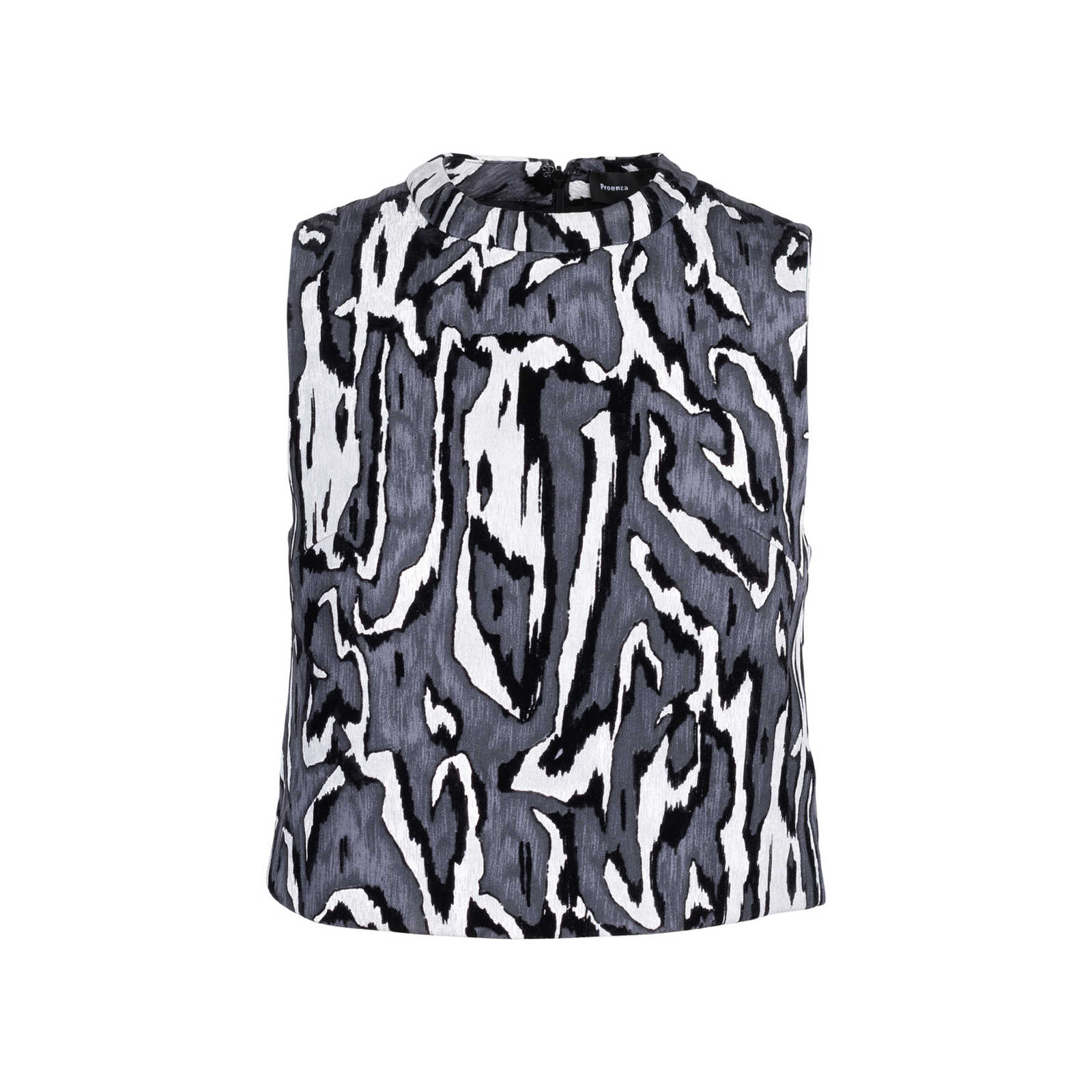 Authentic Second Hand Proenza Schouler Velvet Pattern Top Pss 515 00162 The Fifth Collection