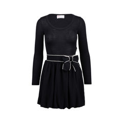 Knit Dress with Bow