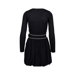 Red valentino knit dress with bow 2?1544607368