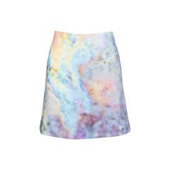 Velour Print Skirt