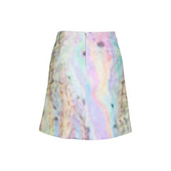 Carven velour print skirt 2?1544608237