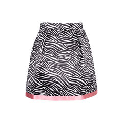 Msgm memphis bead embroidered zebra print skirt 2?1544677366