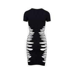 Mcq alexander mcqueen knit mesh panel dress 2?1544677430