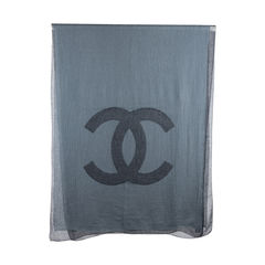 Chanel two sided cashmere shawl 2?1544677479
