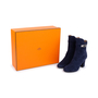 Authentic Second Hand Hermès Suede Joueuse Ankle Boots (PSS-515-00171) - Thumbnail 6