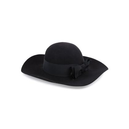 Authentic Second Hand Saint Laurent Wide-Brim Felt Hat (PSS-515-00183)