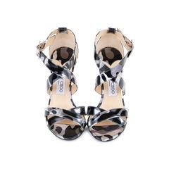 Lottie Metallic Leather Sandals