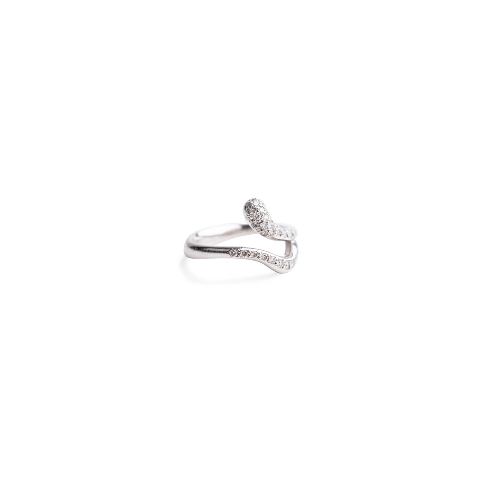 644713000 ... Authentic Second Hand Tiffany & Co Elsa Peretti Teardrop Pave Diamond  Ring (PSS-515 ...