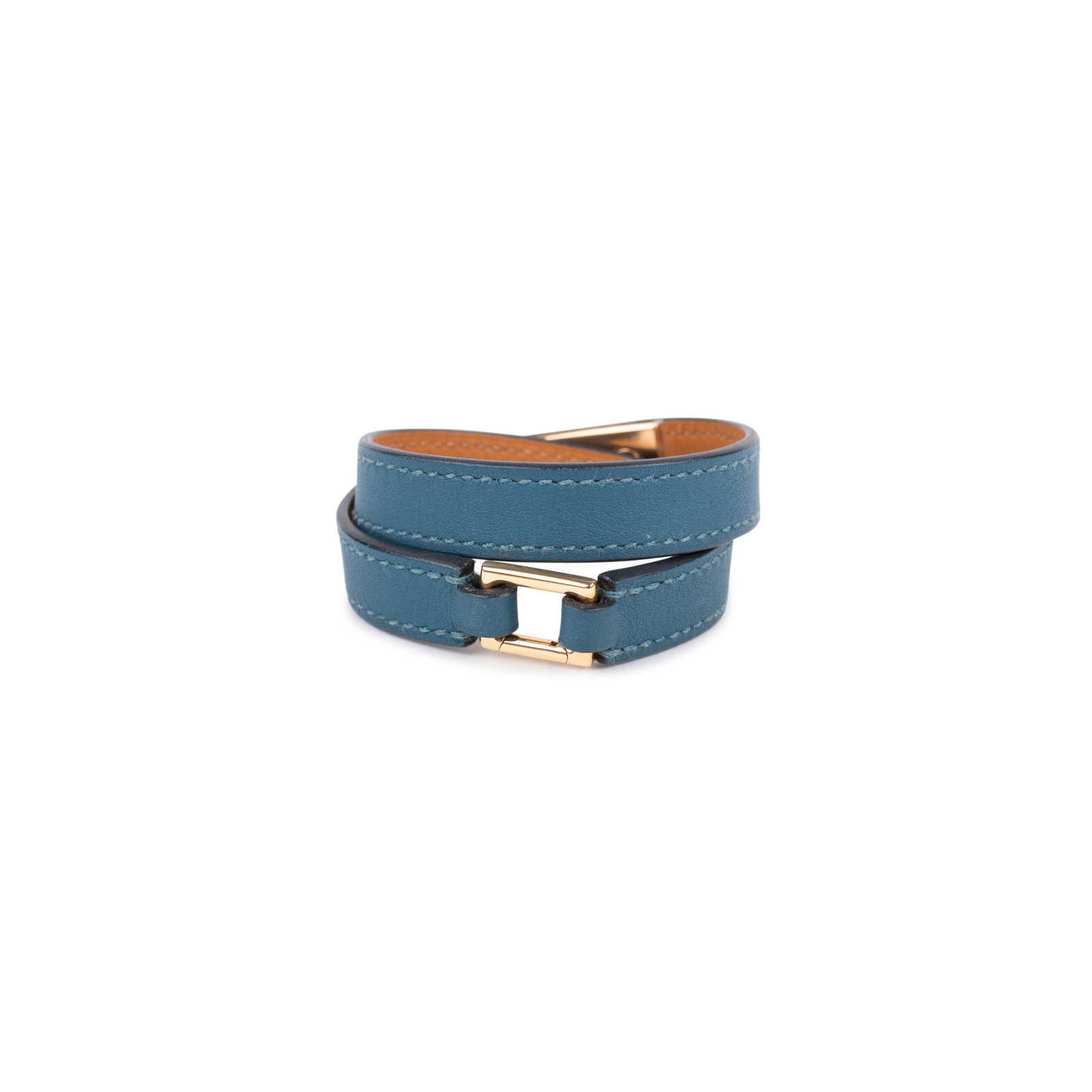 a46c92998a ... Authentic Second Hand Hermès Rivale Double Tour Bracelet  (PSS-588-00003) ...
