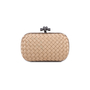 Authentic Pre Owned Bottega Veneta Knot Satin and Watersnake Clutch (PSS-588-00006) - Thumbnail 0