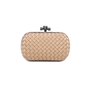 Authentic Pre Owned Bottega Veneta Knot Satin and Watersnake Clutch (PSS-588-00006) - Thumbnail 1