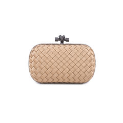 Bottega veneta knot satin and watersnake clutch 2?1545028899