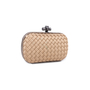 Authentic Pre Owned Bottega Veneta Knot Satin and Watersnake Clutch (PSS-588-00006) - Thumbnail 2