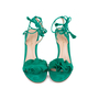 Authentic Second Hand Gianvito Rossi Ruffled Suede Lace-Up Sandals (PSS-588-00014) - Thumbnail 0