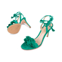 Authentic Second Hand Gianvito Rossi Ruffled Suede Lace-Up Sandals (PSS-588-00014) - Thumbnail 1