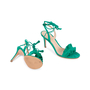 Authentic Second Hand Gianvito Rossi Ruffled Suede Lace-Up Sandals (PSS-588-00014) - Thumbnail 2