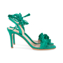 Authentic Second Hand Gianvito Rossi Ruffled Suede Lace-Up Sandals (PSS-588-00014) - Thumbnail 4