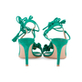 Authentic Second Hand Gianvito Rossi Ruffled Suede Lace-Up Sandals (PSS-588-00014) - Thumbnail 5