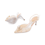Authentic Second Hand René Caovilla Embellished Lace Slingback Pumps (PSS-588-00016) - Thumbnail 1