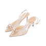 Authentic Second Hand René Caovilla Embellished Lace Slingback Pumps (PSS-588-00016) - Thumbnail 4