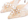 Authentic Second Hand René Caovilla Embellished Lace Slingback Pumps (PSS-588-00016) - Thumbnail 6