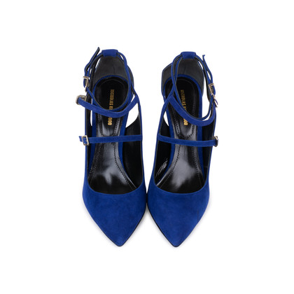 Authentic Pre Owned Nicholas Kirkwood Suede Multistrap Pointed Toe Pumps (PSS-588-00017)