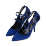Authentic Pre Owned Nicholas Kirkwood Suede Multistrap Pointed Toe Pumps (PSS-588-00017) - Thumbnail 3