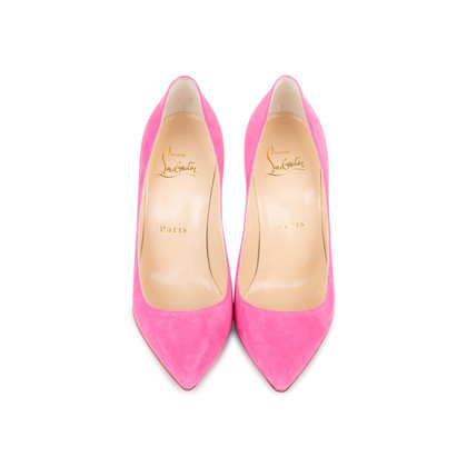 Authentic Second Hand Christian Louboutin Decoltish 100 Suede Pumps (PSS-588-00018)