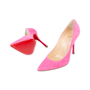 Authentic Second Hand Christian Louboutin Decoltish 100 Suede Pumps (PSS-588-00018) - Thumbnail 1