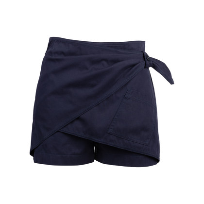 Authentic Second Hand See by Chloe Front Detail Navy Shorts (PSS-515-00204)